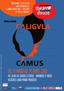 AFFICHE CALIGULA theatre douze
